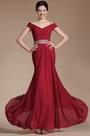 2014 Новое Красное Офф Плечи Вечернее Платье (C00144102)
