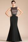 Fashion Black Sleeveless Overlace Evening Dress Prom Gown (C00141900)