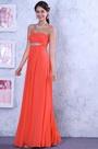 Graceful Coral Crisscross Bust Evening Dress Bridesmaid Dress (00111657)