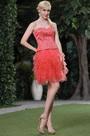 Stunning Coral Top Beaded Graduation Dress Party Dress (C35143457)