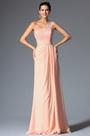 A Line One Shoulder Top Lace Floor Length Evening Dress (00148401)
