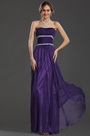 Strapless Beaded chain Long Evening Dress Prom Ball Gown (36130406)