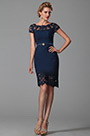 eDressit Short Sleeves Dark Blue Mother of the Bride Dress (26150105)