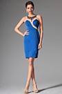 Stylish Sleeveless Short Blue Day Dress Formal Party Dress (03143805)