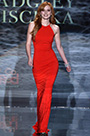Custom Made Bella Thorne Runway Stunning Red Gown (cm1410)
