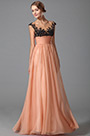 Gorgeous Empire Waist Evening Gown With Beaded Lace Applique (00152710)