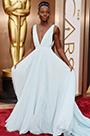 Custom Made Oscar Star Lupita Nyong''o Amazing Blue Gown (cm1405)