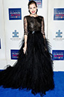 Custom Made Allision Williams 2014 Winter Ball Black Lace Gown (cm1402)