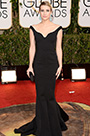 Custom Made Emma Roberts Golden Globe Awards Black Gown (cm1404)