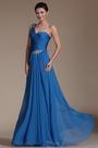 Stylish Bule One Shoulder Evening Dress (C00146905)