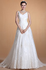 Elegent V-cut Spaghetti Straps Wedding Gown Bridal Dress (C37141107)