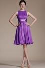 Purple Sleeveless Short  Cocktail Dress(07156606)