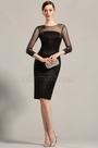 Long Sleeves Sheer Top Little Black Dress Cocktail Dress (26152900)