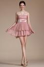 Pink Sleeveless Sheer Top Cocktail Dress(C04140701)