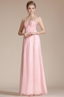 Pink Double Straps Empire Evening Dress(C36140601)