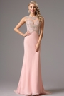 Sleeveless Beaded Bodice Pink Prom Dress Evening Dress (36162201)