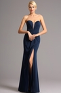 eDressit Dark Blue Strapless Sweetheart Bodice Slit Prom Evening Dress (00161505)