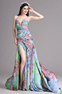 eDressit Lovely High Slit Strapless Sweetheart Printed Summer Dress (X00120539)