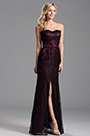 Flattering Floral Neck High Slit Evening Formal Dress (X07151212-5)