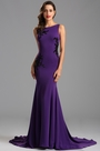 Elegant Sleeveless Lace Purple Formal Dress Evening Dress (00163006)