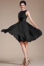 Sleeveless Black Party Dress Cocktail Dress (07156600)
