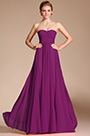 Strapless Pleated Purple Evening Dress Bridesmaid Dress (HC00113957)