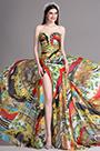eDressit High Slit Strapless Sweetheart Floral Printed Summer Dress (X00120548)