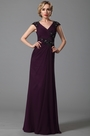 Cap Sleeves Beaded Lace Applique Evening Gown (26152706)