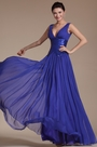 Blue Elegant Sexy V-cut Evening Dress(C00145505)