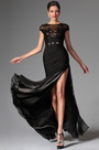 Black Sexy Cap-sleeves Evening Dress Prom Dress (H02146800)