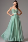 Lace Applique Green Prom Evening Dress Formal Gown (00162504)