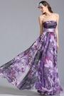 Strapless Floral Dress Summer Printed Dress (07151406)