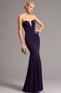 Strapless Sweetheart Purple Evening Dress Prom Dress (00161106)