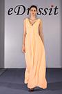 Sexy V Cut Orange Evening Dress Prom Dress (H00090907)