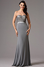 Strapless Sweetheart Sequin Grey Bridesmaid Dress Evening Dress (07160208)