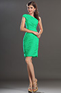 One Shoulder Green Party Dress Cocktail Dress (H04131112)