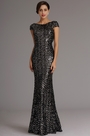 Stunning Dark Silver Sequin Formal Dress Evening Dress (X07160327)