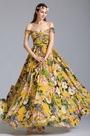 Off Shoulder Floral Dress Summer Printed Dress (07151703)