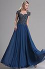 eDressit Navy Blue Cap Sleeves Beaded Prom Evening Dress (36163605)