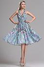 Halter Neck Short Printed Dress Summer Floral Dress (X07154805)
