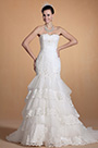 Fabulous Sweetheart Beadings Mermaid Wedding Gown (C37141407)