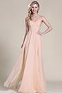 Elegant Strapless Sweetheart Rosy Brown Bridesmaid Dress Formal Dress (07153346)