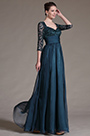 Stylish Overlace Sleeves Mother of the Bride Dress (H26146205)