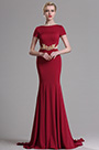 eDressit Red Short Sleeves Mermaid Prom Evening Dress (00163317)