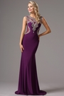 Graceful Sleeveless Formal Gown with Beaded Embellishments (36161706)