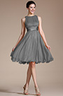 Sleeveless Grey Party Dress Cocktail Dress (07156608)