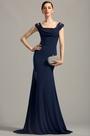 eDressit Off Shoulder High Slit Navy Blue Evening Dress (00154505)