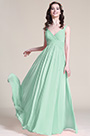 V Cut Mint Green  Bridesmaid Dress Evening Dress (07151604)