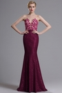 eDressit Fuchsia Sheer Neck Sleeveless Mermaid Dress (00164312)