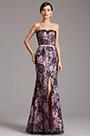Strapless Sweetheart Neck High Slit Pink Bridesmaid Dress (X07151201)